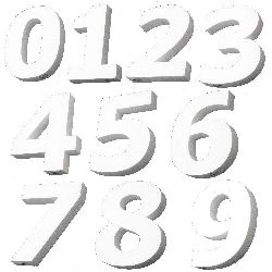 Styrofoam 0-9 Digits 00x50 mm.  for decoration - 1 pc, White, DIY Decoration