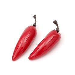 Decoration Styrofoam Peppers 55x15 mm red -10 pieces, Home Decoration Craft