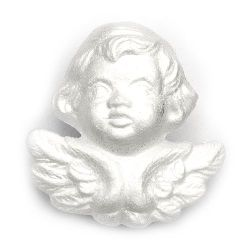 Styrofoam Angel Face for Decoration, 120 mm 1 piece