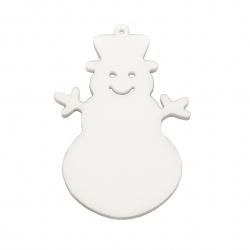 Styrofoam Snowman, 100x70x6 mm