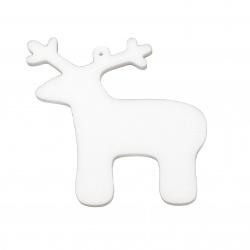 Styrofoam Christmas Deer, 100x90x6 mm