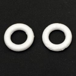 Cerc din polistirol rotund 43x9,5 mm rotund pentru decorare -10 bucăți