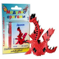 Modular Origami Set, Red Dragon