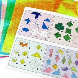 Hârtie Origami 15x15 cm 5 culori x 2 foi