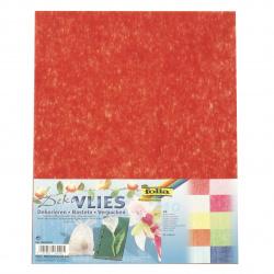 FOLIA копринени фибри синтетични/флизелин лист 23x33 см асорти цветове -10 броя