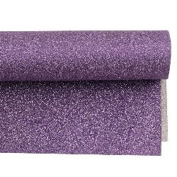 Glitter Gift Wrapping Paper 700x500 mm double-faced with silver / purple