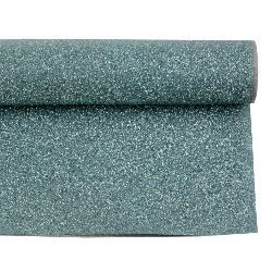 Хартия опаковъчна 700x500 мм двулицева с брокат цвят сребро/тюркоаз