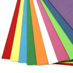 EVA материал /микропореста гума/ 2 мм А4 20x30 см АСОРТЕ цветове -10 листа