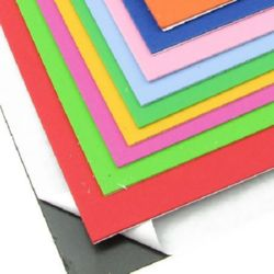 Adhesive EVA Foam Sticker mixed colors, A4 Sheet 20x30cm 2mm, 10 pieces Scrapbooking & Craft Decoration