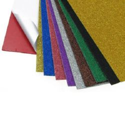 Adhesive EVA Foam Stickers Glitter MIXED Colors , A4 Sheet 20x30cm 2mm, 10 pieces