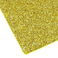 EVA Foam Glitter Gold, A4 Sheet 20x30cm 2mm DIY Craft, Decoration