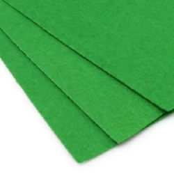 Felt Sheet, DIY Crafts Sewing Decoration 1 mm A4 20x30 cm color green grassy -1 piece