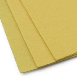Felt Sheet, DIY Crafts Sewing Decoration 1 mm A4 20x30 cm color ocher -1 pc