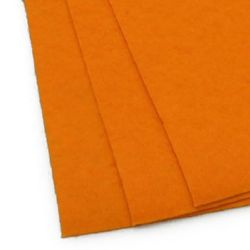 Felt Sheet, DIY Crafts Sewing Decoration 1 mm A4 20x30 cm color orange light -1 piece