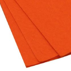 Felt Sheet, DIY Crafts 1 mm A4 20x30 cm color orange -1 pc
