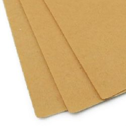 Felt Sheet, DIY Crafts Sewing Decoration 1 mm A4 20x30 cm color beige light -1 piece