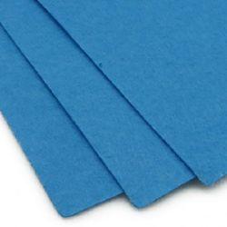 Fabric Felt Sheet, DIY Crafts Sewing Decoration 1 mm A4 20x30 cm color blue light -1 pc