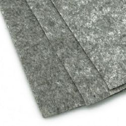 Акрилен крафт филц 1 мм A4 20x30 см цвят сив меланж -1 брой