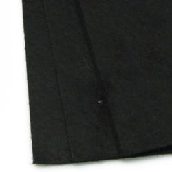 Fabric Felt Sheet, DIY Crafts Sewing Decoration 1 mm A4 20x30 cm color black -1 pc
