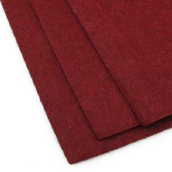 Acrylic Felt Sheet, DIY Craft Handmade 2mm A4 20x30 cm color red dark -1 piece