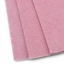 Acrylic Felt Sheet, DIY Craft Handmade 2 mm A4 20x30 cm color pink light -1 piece