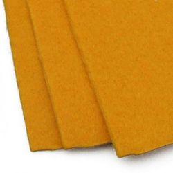 Fabric Felt Sheet, DIY Crafts Sewing Decoration 2 mm A4 20x30 cm color yellow dark -1 piece