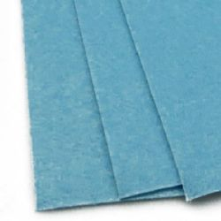 Acrylic Felt Sheet, DIY Craft Handmade 2 mm A4 20x30 cm color blue light -1 pc