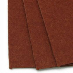 Fabric Felt Sheet, DIY Crafts Sewing Decoration 2 mm A4 20x30 cm color brown -1 pc