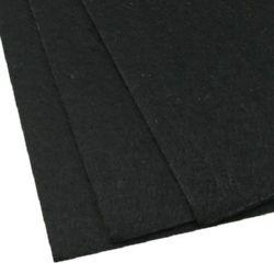 Acrylic Felt Sheet, DIY Craft Handmade 2 mm A4 20x30 cm color black -1 pc