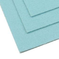 Pâslă 2 mm A4 20x30 cm culoare albastru pal-1 bucată