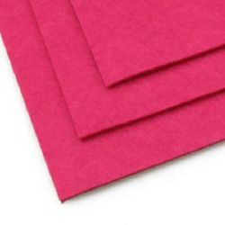 Acrylic Felt Sheet, DIY Craft Handmade 2 mm A4 20x30 cm color pink dark -1 pc