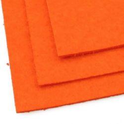 Fabric Felt Sheet, DIY Crafts Sewing Decoration 2mm A4 20x30 cm orange-1 color