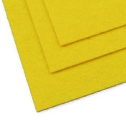 Fabric Felt Sheet, DIY Crafts Sewing Decoration 2 mm A4 20x30 cm color yellow -1 pc