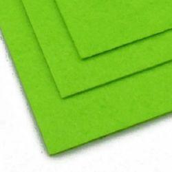 Fabric Felt Sheet, DIY Crafts Sewing Decoration 2 mm A4 20x30 cm color green light -1 piece