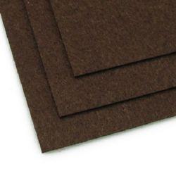 Fabric Felt Sheet, DIY Crafts Sewing Decoration 2mm A4 20x30 cm color brown dark -1 piece