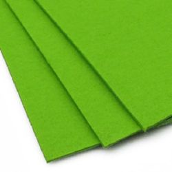 Acrylic Felt Sheet, DIY Craft Handmade 3 mm A4 20x30 cm color green light -1 piece