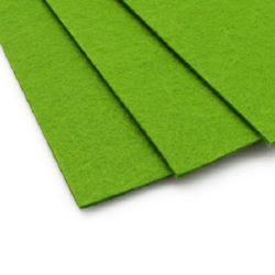Acrylic Felt Sheet, DIY Craft Handmade 3 mm A4 20x30 cm color green grassy -1 piece