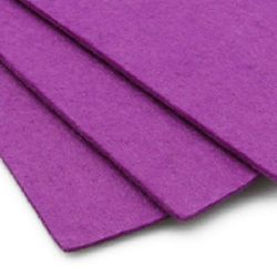 Felt Fabric Sheet, DIY Craftwork Scrapbooking 3 mm A4 20x30 cm color purple light -1 piece