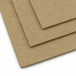 Felt Fabric Sheet, DIY Craftwork Scrapbooking 3 mm A4 20x30 cm color brown pale -1 pieces
