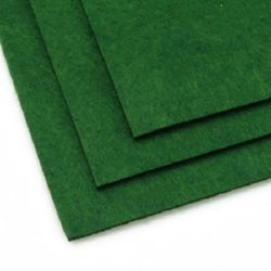 Foaie din pâslă acrilică, DIY Craft Handmade 3 mm A4 20x30 cm culoare verde închis -1 buc
