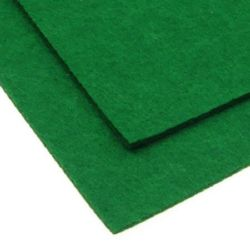 Acrylic Felt Sheet, DIY Craft Handmade 3 mm A4 20x30 cm color green -1 pc
