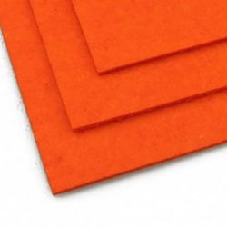 Felt Fabric Sheet, DIY Craftwork Scrapbooking 3 mm A4 20x30 cm orange-1 color