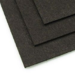 Felt Fabric Sheet DIY Craftwork Decoration  3 mm A4 20x30 cm color black brown -1 pc