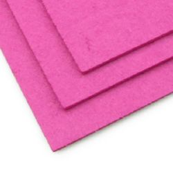 Felt Fabric Sheet, DIY Craftwork Scrapbooking 3 mm A4 20x30 cm color cyclamen -1 pc