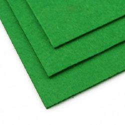 Pâslă 3 mm A4 20x30 cm culoare verde -1 bucată