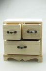 Wooden chest of drawers 160x80x150 mm one large and two small drawers