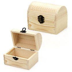 Cutie din lemn rotunjită 120x80x90 mm