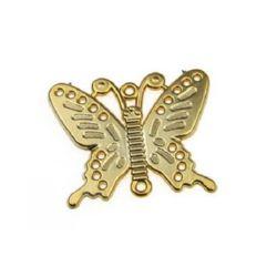 Висулка свързващ елемент пеперуда 45x56 мм цвят злато