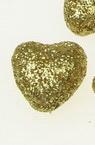 Inima din polistirol 20x20 mm brocart aur -10 buc