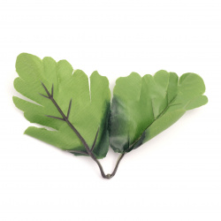 Twig with textin leaves  80x110 mm color light green -4 twigs